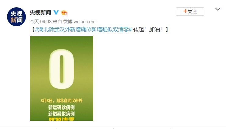 好消息!3月5日,湖北除武汉外新增清零!